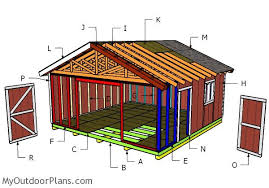 building a 20x20 shed with a gable roof outdoor shed plans free