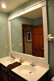 Framing Bathroom Mirror Ideas. Top Brilliant Diy Decor Ideas For ... Mirror Ideas For Bathroom Double L Shaped Brown Finish Mahogany Rustic Framed Intended Remodel Unbelievably Lighting White Bath Oval Mirrors Best And Elegant Selections For 12 Designs Every Taste J Birdny Luxury Reflexcal Makeover Framing A Adding Storage Youtube Decorative Trim Creative Decoration Fresh 60 Unique