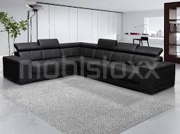 canapé d angle commandeur canapé d angle kamara 2 3 places éco cuir noir chez mobistoxx