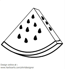 Watermelon clipart line drawing 2
