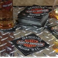 Harley Davidson Motor Oil Coaster Set Of 25 D