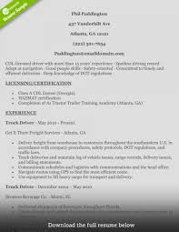 Truck Driver Resume Phil Impressive Templates Example Objective Tow With Sample Free And