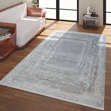 kurzflor wohnzimmer teppich vintage look grau