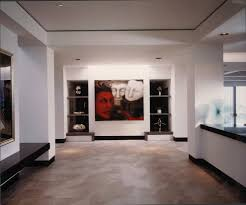 black baseboards white with recessed lighting contemporary
