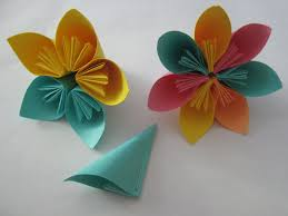 Origami Paper Flower Making