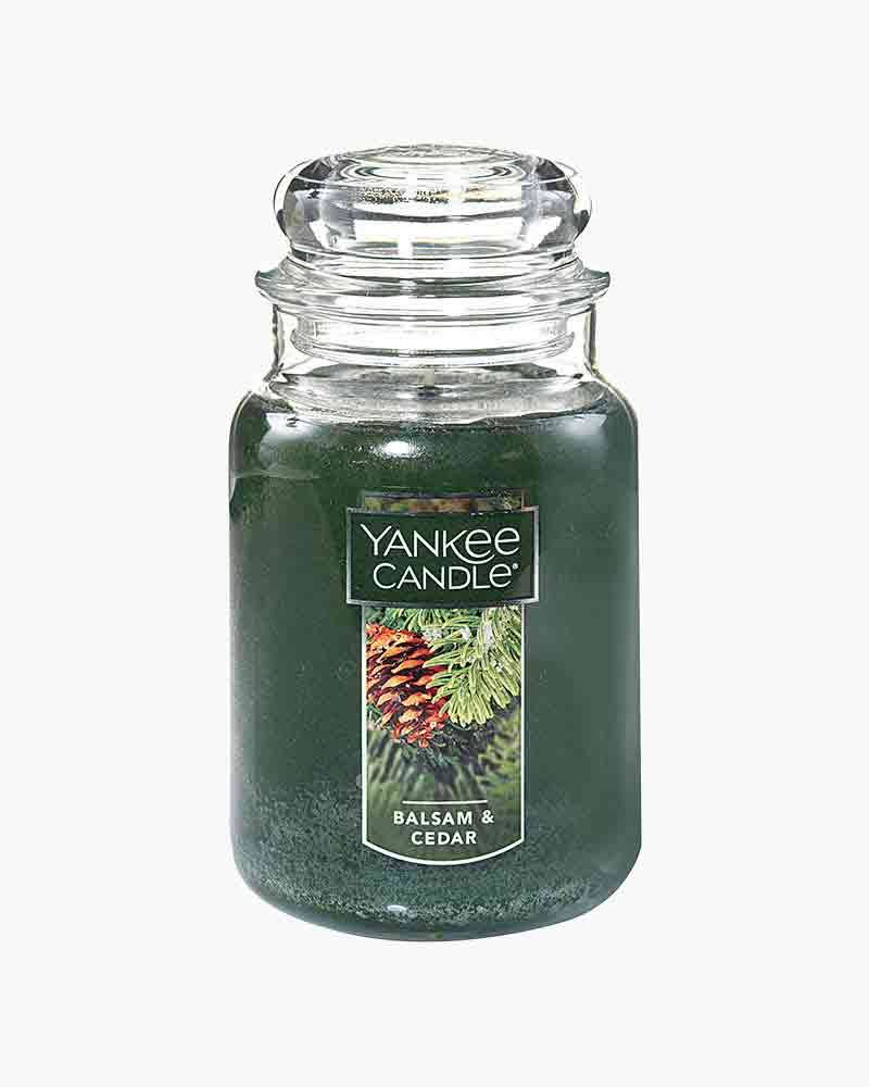 Yankee Candle Jar Candle - Balsam and Cedar, Large, 22oz