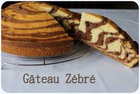 gâteau zébré vanille et chocolat recette avec photos