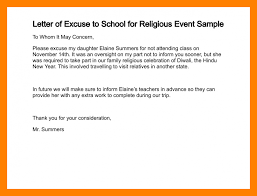 9 excuse letter for student