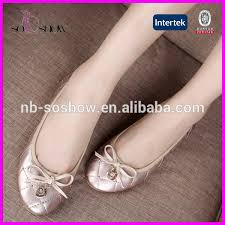 Fashion New Design Office Lady Shoes Flat Ladies