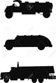 Oil Trucks Silhouette From 1930s To 1950s Royalty Free Cliparts ...