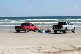 100 Texas Trucks Pickup Parked On The Beach Padre Island USA Photo