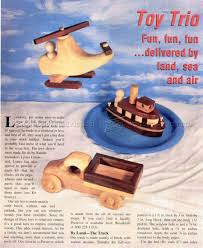 wooden toy truck tugboat and helicopter u2022 woodarchivist