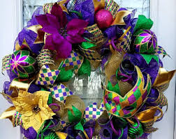 Mardi Gras Mask Door Decoration by Specializing In One Of A Kind Wreaths Bows By Southernwreathsal