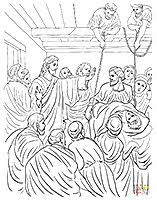 Coloring Page Of Luke 517 26 Jesus Forgives And Heals