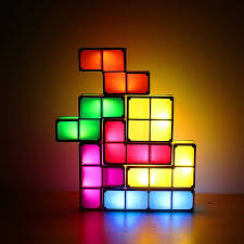 Tetris Stackable Led Desk Light by Usb Tetris Stackable Led Light