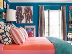 A Small Bedroom Packed With Cool Caribbean Colors 10 Photos
