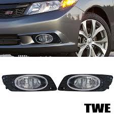 fit 2012 honda civic 4d 4dr sedan clear lens fog lights bulbs