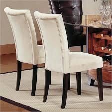 Fabulous White Fabric Dining Chairs Upholstered Yellow Damask Fully Chair