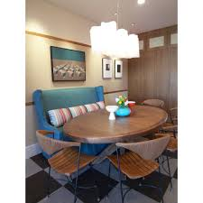 Inspired Settee Loveseat In Dining Room Contemporary With Table Arrangement Next To Christopher Peacock Kitchen