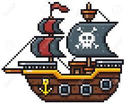 100 Design A Pirate Ship Vector Illustration Of Cartoon Pirate Ship Pixel Design
