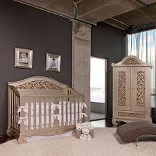 Chelsea Lifetime Crib In Antique Silver and Nursery Necessities in
