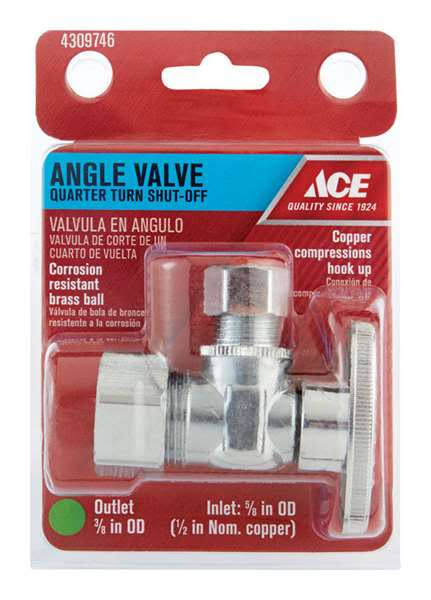 Ace Angle Valve, Quarter Turn Shut-Off