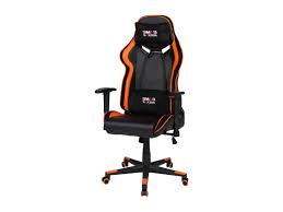 gaming stuhl chefsessel schwarz orange rocker