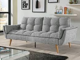 tissu canapé canapé convertible en tissu noir gris ou ovila