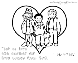 Love One Another Coloring Pages 12