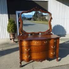 Tiger Oak Serpentine Dresser by Antiques By Design Serpentine Front Victorian Tiger Oak Dresser