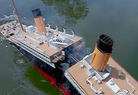 model titanic splits 2 high angle breakup sinking youtube