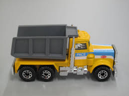 Toy, Matchbox Tip Truck, Peterbilt, 1:80 Scale, Marked 'Pace ...
