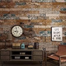 3d tapete stein backstein effekt vintage wanddeko design