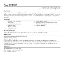 Hvac Service Technician Resume Templates Examples Best And Refrigeration Cooperative Portrait Nor Example Sample Resize 2