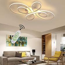 wohnzimmerle deckenleuchte weiß led modern dimmbar esstisch schlafzimmer deko decke le mit fernbedienung blume shape design acryl schirm