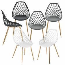 en casa 2x design stühle esszimmerstuhl bürostuhl stuhl kunststoff stuhlset