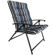 Seagull Padded Folding Chair - Striped Blue