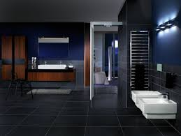 ein luxusgefühl herrscht im schwarzen badezimmer design