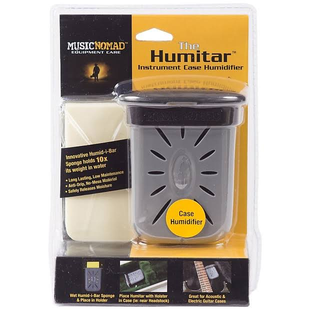 Music Nomad Humitar Instrument Case Humidifier - with Holster, Grey