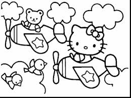 Good Hello Kitty Coloring Pages Kids Printable With For And