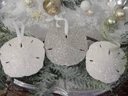 Seashell Christmas Tree Garland by Glitter Sand Dollar Ornaments So Pretty Lillyholiday Sea