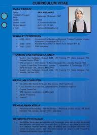 Contoh CV Kreatif Menarik Baik Resmi Dan Benar Dalam Bentuk Format Word Doc