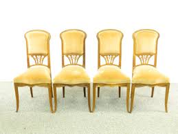 FOUR ART NOUVEAU LOUIS MAJORELLE DINING CHAIRS - Jan 16, 2019 ... Set Of 8 Vintage Midcentury Art Nouveau Style Boho Chic Italian Stunning Of Six Inlaid Mahogany High Back Chairs 2 Pair In Antiques Atlas Lhcy Solid Wood Ding Chair Armchair Lounge Nordic Style A Oak Set With Table Seven Chairs And A Side Ding Suite Extension Table France Side In Leather Chairish Gauthierpoinsignon French By Gauthier Louis Majorelle Caned An Edouard Diot Art Nouveau Walnut And Brass Ding Table Four 1930s American Classical Shieldback 4