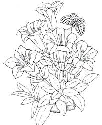 Hearts And Roses Coloring Pages Printable Free Download Print Realistic Flowers Bouquet Sheets