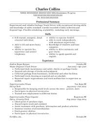 View Resume Waste Disposal Truck Driver