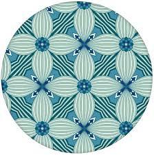 ornamenttapete deko lilly muster groß in petrol vlies