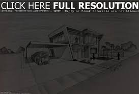 Modern House Drawing Perspective Floor Plans Design Architecture Interior Computer Vs Hand Software Lamp Designs