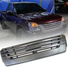 100 Grills For Trucks CHROME GREY FRONT GRILL GRILLE FIT FOR ISUZU DMAX DMAX RODEO 2002