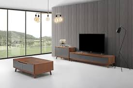 design wohnwand sideboard kommode couchtisch holz wand schrank wohnzimmer modern