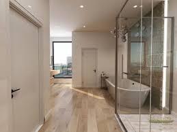 the fusion of 21st century walk in closet and bath design